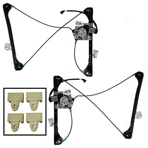 Driver and Passenger Window Regulators with Motors & 4 Window Sash Connectors Replacement for Oldsmobile Pontiac 22689012 22702141 22702142 (Window Regulator Sash Connector compare prices)