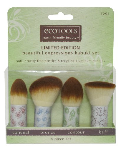 ecoTOOLS Make Up Kabuki Brush Set