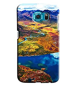 Clarks Mountain Landscape Hard Plastic Printed Back Cover/Case For Samsung Galaxy S6 Edge
