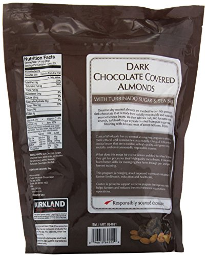 Kirkland Chocolate Almonds Label