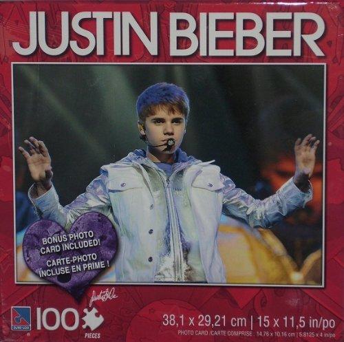Justin Bieber Silver Jacket 100 Piece Puzzle w/Photo Card - 1