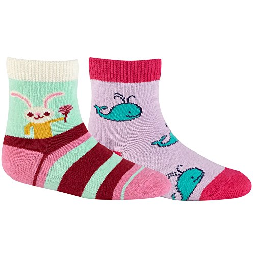 Sock It To Me Toddler Pack Honey Bunny/Whales Pink/Multi Socks front-675598