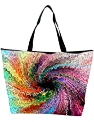 Snoogg Colorful Painting Abstract Designer Waterproof Bag Made Of High Strength Nylon