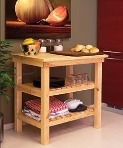 Tavolo da lavoro banco in legno piano appoggio 90 x 60 cm - Banco da lavoro cucina ...