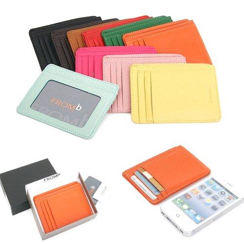 04. Leather Mini Slim Wallet Women Useful Card Wallets Small Purse Business Card Wallet