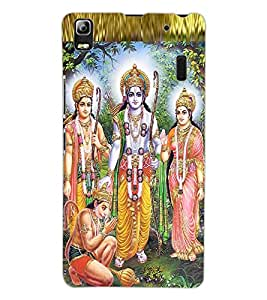 ColourCraft Lord Ram Laxaman Janaki and Hanuman Design Back Case Cover for LENOVO K3 NOTE