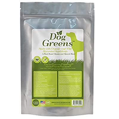 DOG GREENS- Organic and Wild Harvested Vitamin and Mineral Supplement for Dogs - Add to Home Made Dog Food, RAW Food or Kibble such as Wellness, Blue dog, Fromm, Orijen, Acana, Natural Balance , Solid Gold etc - No Hassle-30 Day Money Back Guarantee!