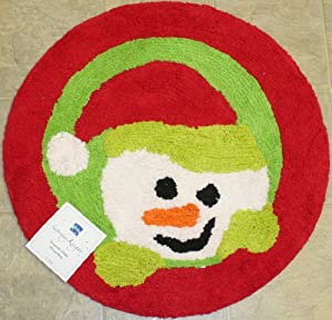 Snowman Cheer Cotton Rug