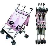 Lightweight Double Umbrella Stroller By Lmntree (Pink)