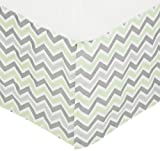 American Baby Company 100% Cotton Tailored Bed Skirt with Pleat, Celery