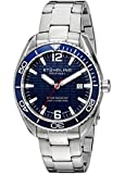 Stuhrling Original Men's 515.03 Aquadiver Regatta Endeavor Swiss Quartz Date Blue Dial Stainless Steel Bracelet Watch