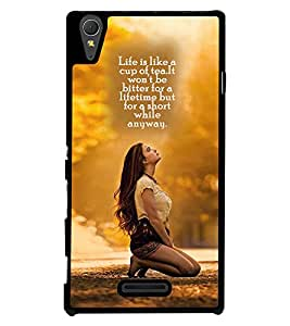 Printvisa 2D Printed Quotes Designer back case cover for Sony Xperia T3 - D4258