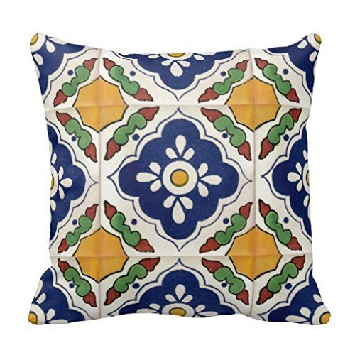 KarilShop Article Tile Decorative purlple Linen Throw Pillow Case Cushion Cover Home Sofa Decorative 18 X 18 Inch.