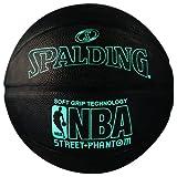 Spalding 71022 NBA Street Phantom Official Outdoor Basketball, Neon Blue/Black, Size 7/29.5