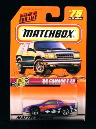 '94 CAMARO Z-28 * PURPLE * Street Cruisers Series 10 MATCHBOX 1998 Basic Die-Cast Vehicle (#75 of 75) - 1