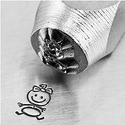 Impress Art Metal Punch Stamp \'Baby Girl\' 6mm (1/4 Inch) Design