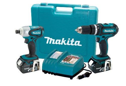 Makita LXT211A 18-Volt LXT Lithium-Ion Cordless 2-Piece Combo Kit with Rapid Automotive Charger