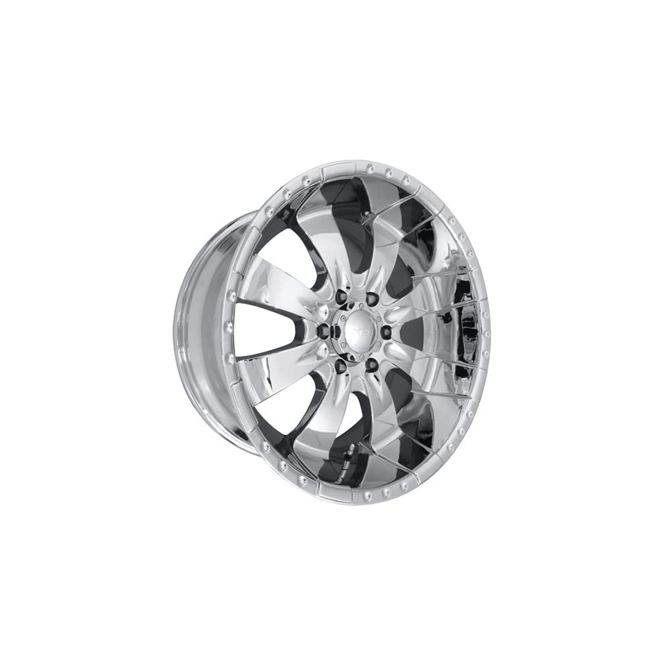 MST 654 17 Chrome Wheel / Rim 8x170 with a 15mm Offset and a 130.81 Hub Bore. Partnumber 654 78570