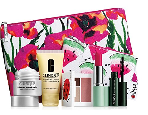 new-2016-clinique-7-pc-makeup-skincare-gift-set-pink-floral-bag-warm