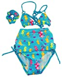 Number One Girls Toddler Girls Sea Horse Bikini 4 Pc Set Rashguard Set