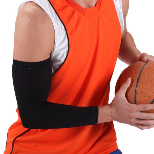 Image of Cramer E4 Ess Arm Compression Sleeve, Black (B005929IX4)