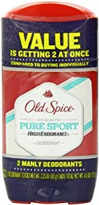 Old Spice High Endurance Pure Sport Scent Men's Deodorant Twin Pack 4.5 Oz