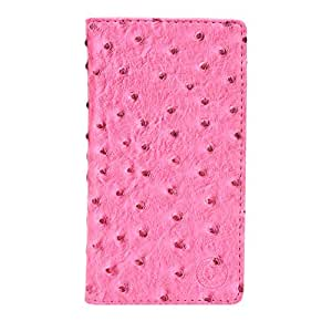 Jo Jo Croc Series Cover Leather Pouch Flip Case For Ulefone Vienna Exotic Pink