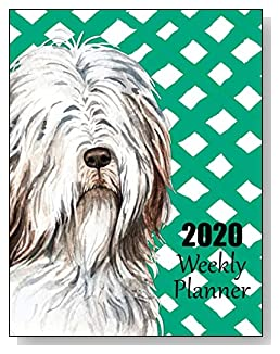 Old English Sheepdog 2020 Dated Weekly Planner - A fun canine-themed planner to help any dog lover stay organized and keep track of activities on a daily, weekly, and monthly basis from January to December 2020.