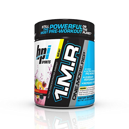 BPI Sports 1MR One More Rep Ultra Concentrated Energy Supplement, Fruit Punch Supplement, 8.5 Ounc