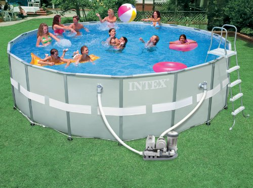 intex ultra frame 18 foot by 52 inch round pool set intex