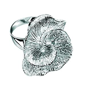 Element Sterling Silver, Ladies', R2742, Textured Fossil Style Ring - Size Small