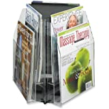 Safco Products Reveal 6 Magazine Tabletop Displays, Clear, 5698CL