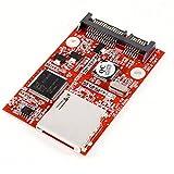 uxcell SD-SATAアダプタ SD 安全 デジタル SDHC MMC - SATA アダプタ 変換器 アダプタコンバータ