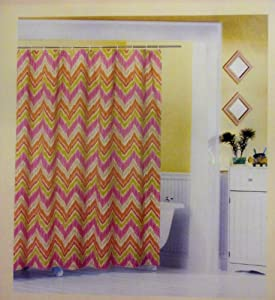 Amazon.com - Shower Curtain Fabric Tribal Chevron Newport Home 72