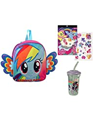 "My Little Pony Backpack, Tumbler & Temporary Tattoo Sheet ""ON THE GO"" Backpack Can Fit Snacks & Toys To Take To..."