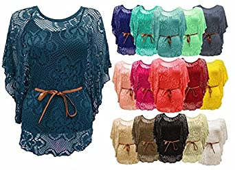 Mouchoirs pour femmes avec de la dentelle aux angles en forme de papillons blancs 100/% coton
