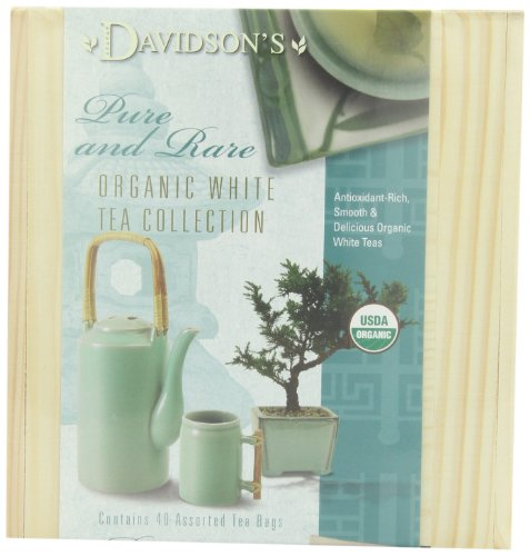 Davidson'S Tea White Mini Tea Chest, 14 Ounce Boxes (Pack Of 2)