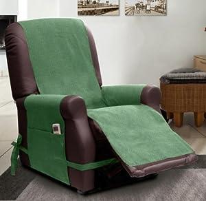Copripoltrona scudo per poltrone relax verde for Poltrone relax amazon