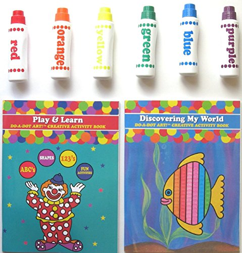 Do A Dot Art Markers Rainbow 6-Pack and Activity Book Set