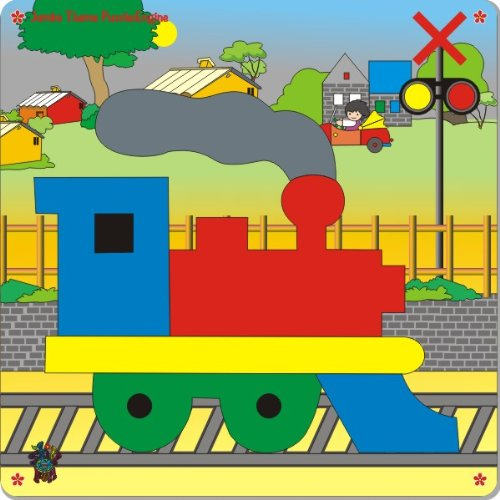 Picture of Khazana Toys Jumbo Theme Puzzle - Engine (B004GY48RC) (Pegged Puzzles)