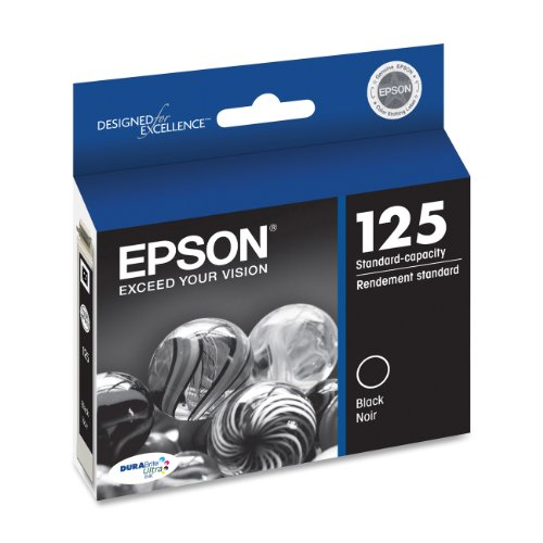 Epson DURABrite T125120 Ultra 125 Standard-capacity Inkjet Cartridge -Black