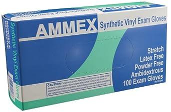 Ammex VSPF Stretch Vinyl Glove, Medical Exam, Latex Free, Disposable, Powder Free