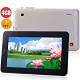 Boxchip A13 4GB DDR3 512MB 7.0inch Capacitive Android 4.0 Camera GSM 2G Phone Calling Tablet PC - White