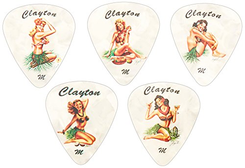 Clayton Hula Hottie Guitar Picks 1 Dozen Medium