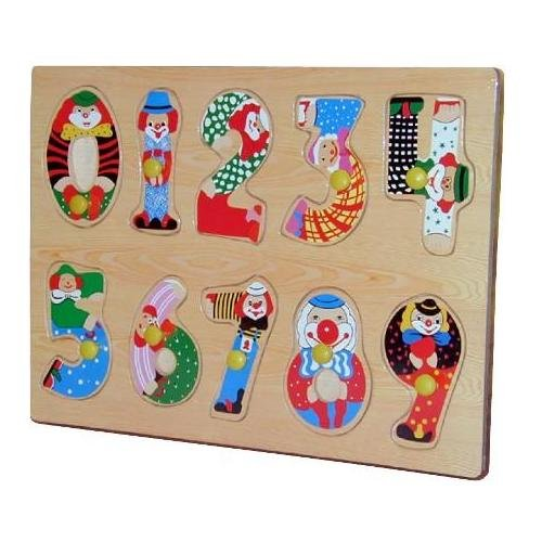 Cheap Puzzled Artistic Numbers Peg Wooden Puzzle (B0041DPMS2)