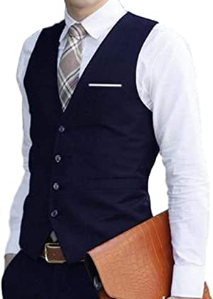 BENQUE(ベンケ) [ベンケ] ジレ ベスト フォーマル スリム フィット メンズ ビジネス カジュアル スーツ 生地