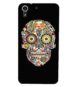 HTC DESIRE 728 SKULL Back Cover by PRINTSWAG