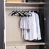 Ollieroo-Hanger Non-Slip Chrome Clothes Hanger Set, Velvet, Tie Hnagers