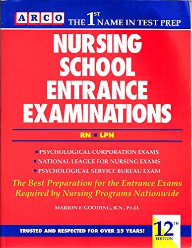 Nursing School Entrance Examinations/Rn Lpn (Peterson's Master the Nursing School & Allied Health Programs Entrances