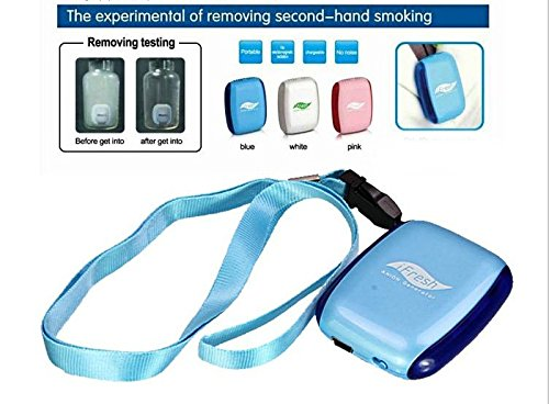 Onairmall® Ifresh Olf-688 Portable Mini Pendant-Ion And Ozone Generator Air Purifier Air Freshener - Blue front-608555